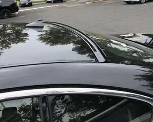 Painted For 2009 2014 Acura Tsx cu2 rear Window Roof Spoiler black