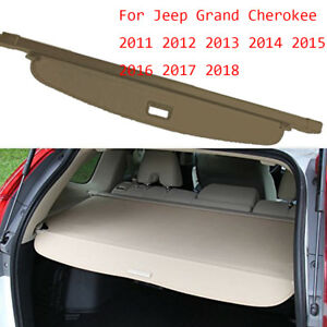 For 2011 2019 Jeep Grand Cherokee Beige Retractable Cargo Cover Rear Trunk Shade