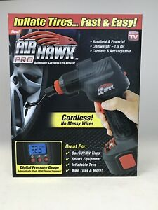 New Air Hawk Pro Automatic Cordless Tire Inflator As Seen On T V Free Shipping