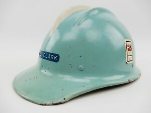 Vintage Bullard Hard Hat Helmet With Liner Hard Boiled Blue Original Red