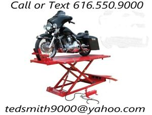 Titan 1 500 Lbs Xlt Motorcycle Lift With Front Side Extensions