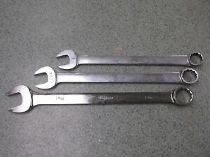 Set Of 3 Snap On Large Combo Wrenches 1 1 3 8 1 1 16