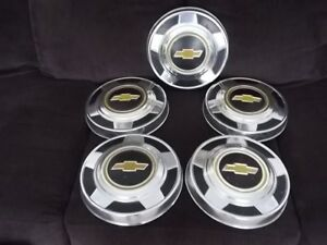 1973 1987 Chevrolet 1 2 Ton Truck 10 1 2 Dog Dish Hubcaps Set Of 5 Clean