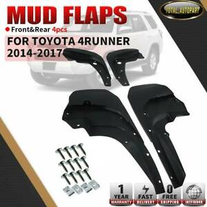 4x Splash Guards Mud Flaps W Fender Flares For 14 17 Toyota 4runner 76626 35250