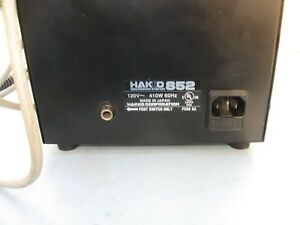 Hakko 852 Smd Rework Station Esd Safe Includes 5 Nozzle And Manual