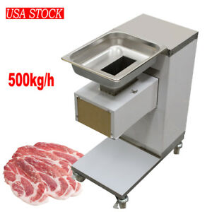 Meat Slicer Electric Commercial Kitchen Food Cutter Slicing Meat Tool 3mm Blade