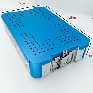 Aluminium Alloy Sterilization Tray Case Double Level Surgical Instrument Case