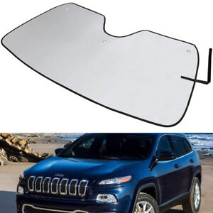 Reflective Window Windshield Sun Shade Visor For Jeep Cherokee Suv 2014 2019 ya