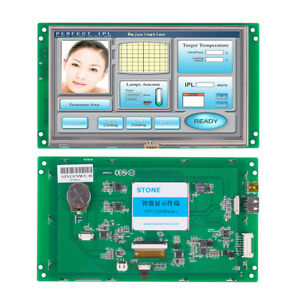 Stone Industrial Hmi Plc Tft Lcd Touch Screen For Equipment Use With Uart Port