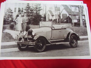 1929 Ford Model A Roadster Big 11 X 17 Photo Picture