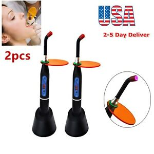 2x Wireless Cordless 10w Led Dental Curing Light Lamp Teeth Whitening 2000mw Fda