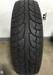 1x Take Off P225 65r17 Hankook Winter Ipike Rw11 11 32nds Used Tire
