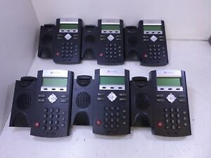 Lot Of 6 Polycom Ip335 Soundpoint 2201 12375 001 Ip Phones T6 c1