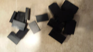 Cnc Mill Material Plastic Assorted Black Delrin Block Lot 37 Pieces