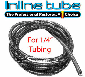 1 4 Brake Line Tube Spring Wrap Armor Guard Cover Tubing Protectant Stainless 8