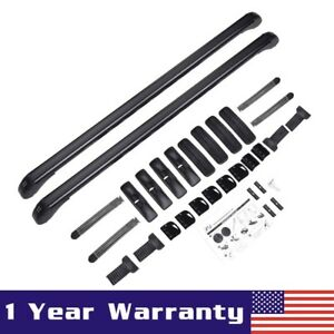 Pair Universal Roof Rack Cross Bar Luggage Carrier W Rubber Gasket For 4dr Car