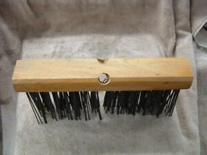 Brand New Carbon Steel Wire Brush Push Broom Yard Driveway Asphalt Concrete