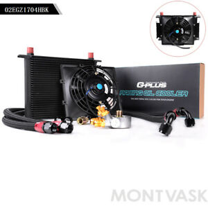 Gplus Universal 30 Row An10 Thermostat Adaptor Engine Oil Cooler 7 Fixed Fan