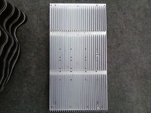 4 Used Large Finned Aluminum Heat Sink Measure 15 5 X 8 25 X 1