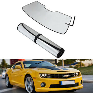Front Window Windshield Sun Shade Visor Cover For Chevrolet Camaro 2010 2015 ya