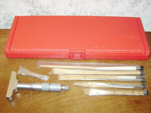 Mitutoyo 0 6 Inch Depth Micrometer Set No 129 128 W Red Case