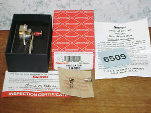 Starrett 001 Inch Dial Indicator No 196 W Box New Old Stock