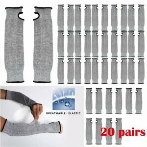 20 Pair Breathable Nylon Glove Anti cut Wear resistant Work Protective Sleeve Wo