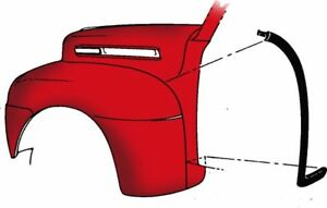 1948 1949 1950 1951 1952 Ford Pickup Ford Truck Cowl To Fender Seal Pair