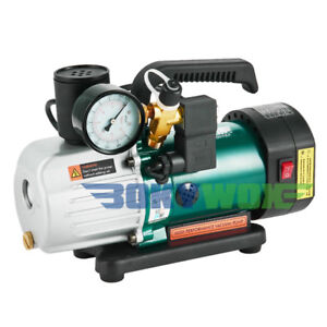 220v Double stage Rotary Vane Vacuum Pump 1 8cfm 1 6hp High Vacuum Suction Pump