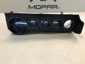 1970 71 72 73 74 Plymouth Cuda Dodge Challenger None Rally Gauge Cluster