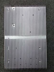 2 Used Large Finned Aluminum Heat Sink Measure 12 25 X 8 25 X 1