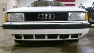 88 92 Audi 80 Front Bumper Assembly white