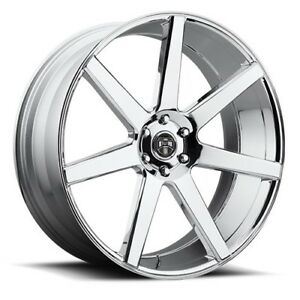 22x9 5 Dub S126 Future Chrome Wheels 6x5 5 30mm Set Of 4