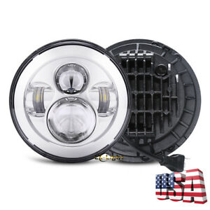 Dot Approved 7 Round Led Projector Headlight Light Bulb For Jeep Jk Tj Harley
