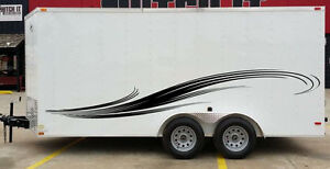 Curved Stripes Tribal Race Pick Up Trailer Rv Vinyl Decal Graphic Vehicle Truck