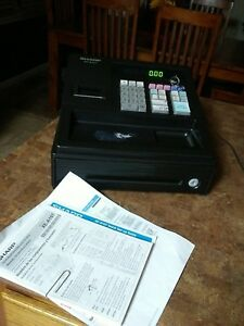 Sharp Led Cash Register With Keys Power Cord Xe a107 Tested