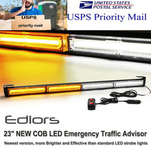 23 4 Cob Led Traffic Advisor Hazard Security Emergency Warning Strobe Light Bar