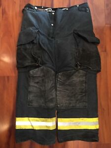 Firefighter Janesville Lion Apparel Turnout Bunker Pants 38x30 Black Costume
