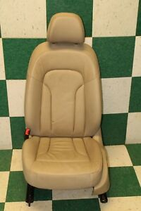 09 12 Q5 Lh Left Driver Front Seat Electric Power Leather Sport Tan Oem