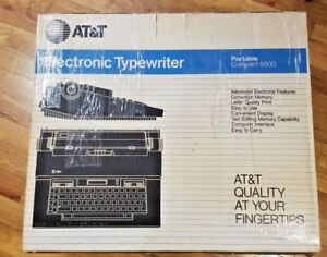 Vintage At t Electronic Typewriter Portable Compact 6500 Tested Works