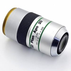 Mitutoyo 378 834 Bd Plan Apo 20x 0 42 Microscope Objective Lens 20mm Work Dist