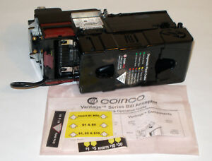 Coinco Vantage Vx63d45us00 Bill Acceptor Validator Mdb 1 20 W Downstack Option