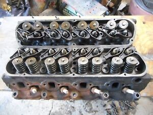 1968 Ford Mustang 289 V8 Cylinder Heads Nice Pair Dated 7k31 7l1