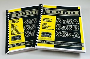 Ford 555a 555b 655a Tractor Loader Backhoe Service Repair Manual Se 4455