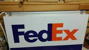 Fedex Authorized Shipping Center Electric Light Double Sided Sign 28 X 17