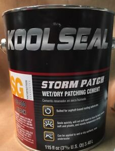 Kool Seal Storm Patch Black All weather Rubberized Cement