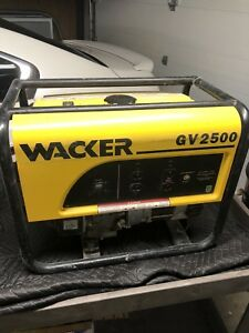 Wacker Gv2500 Honda Gx160 Portable Gas Generator 2500w Used Excellent Condition