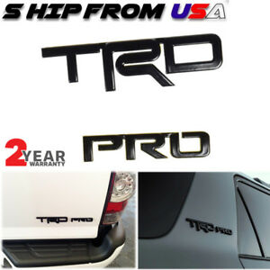 Car Pro Black Logo Painted Metal Emblem For Toyota Tacoma Trd 4runner Tundra Us