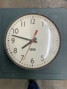 Vintage Ibm Wall Clock School