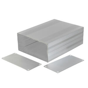 2x Silver Aluminum Project Box Enclosure Case Electronic Diy_big 68x145x200mm